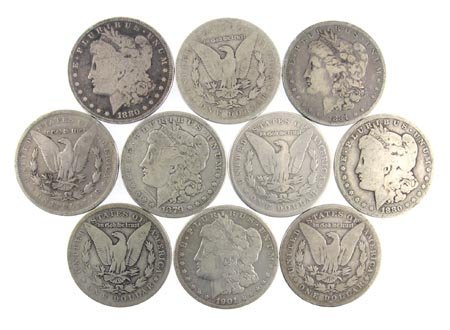 1228: 10 Misc. Silver Dollar Coin, COLLECT!