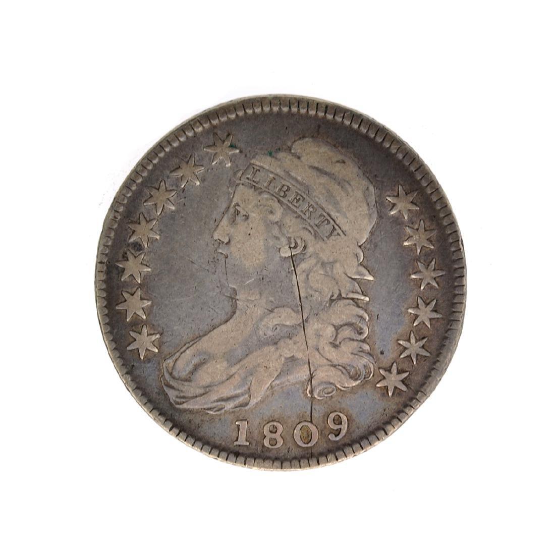 1809 Capped Bust Half Dollar Coin