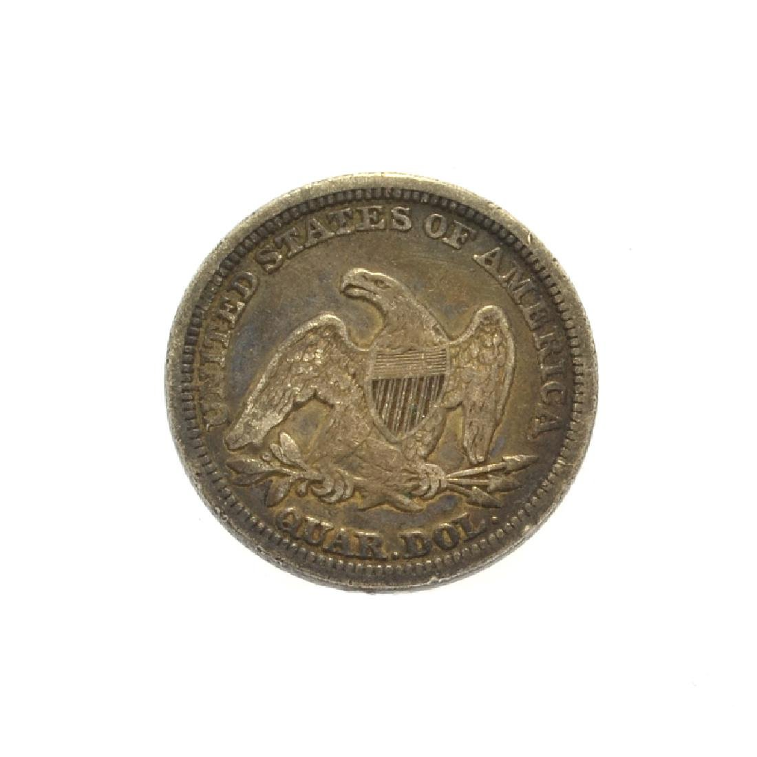 1857 Liberty Seated Quarter Dollar Coin - 2
