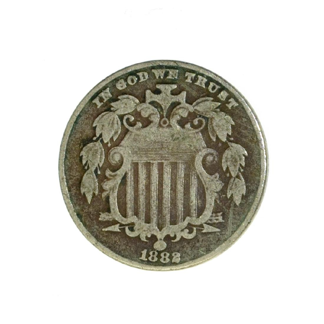 *1882 Shield Nickel Coin (JG) - 2