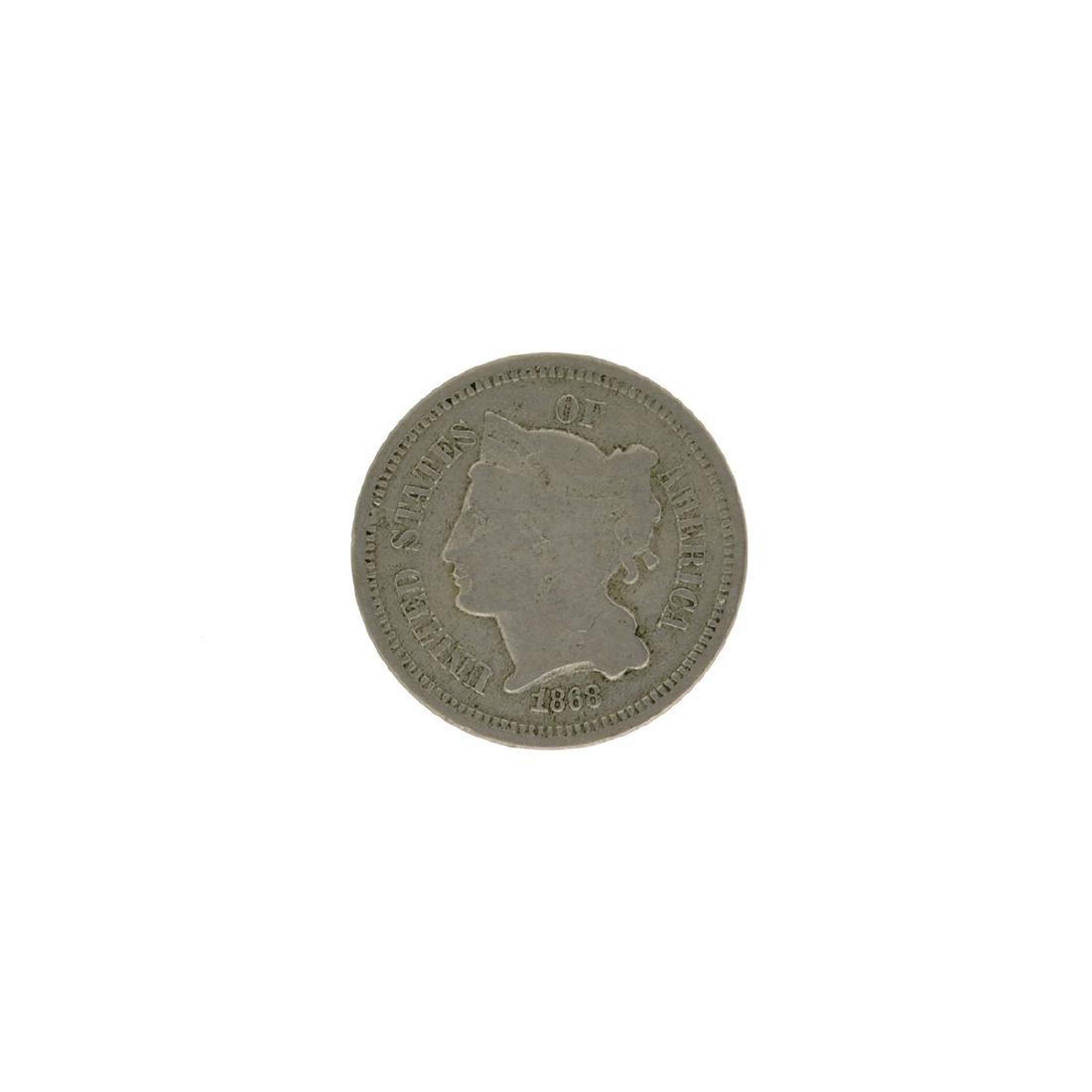 1868 Three Cent Coin