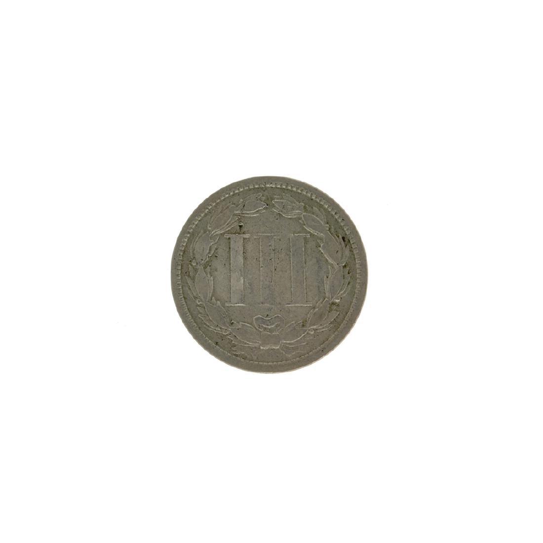 1868 Three Cent Coin - 2