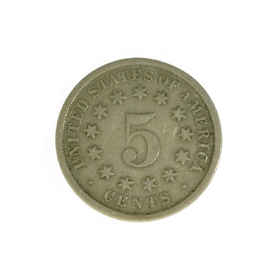 *1882 Shield Nickel Coin (JG)