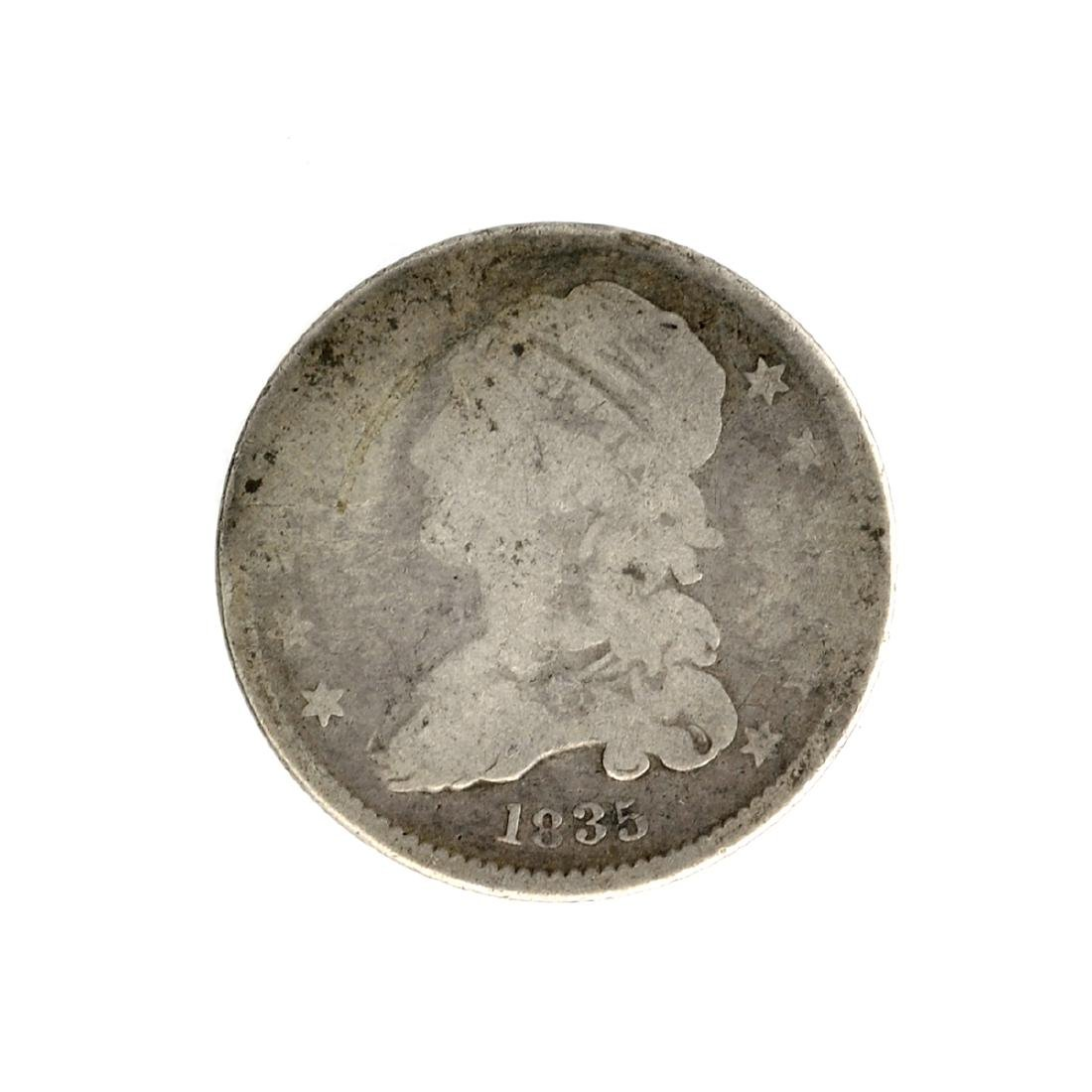 1835 Capped Bust Quarter Dollar Coin