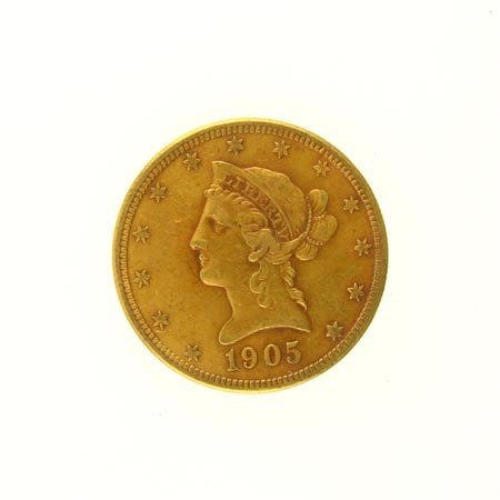 2510: GOV: 1905-S $10 US Gold Coin, COLLECTABLE!!