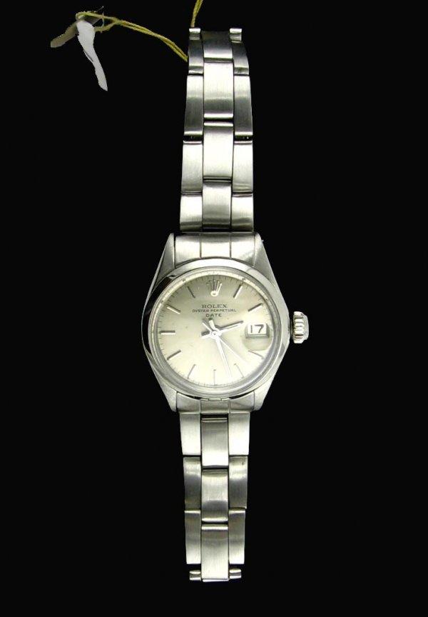 2512: Antique Ladies Stainless Steel Rolex, INVESTORS L