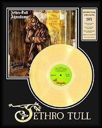 2514: JETHRO TULL ''Aqualung'' Gold LP