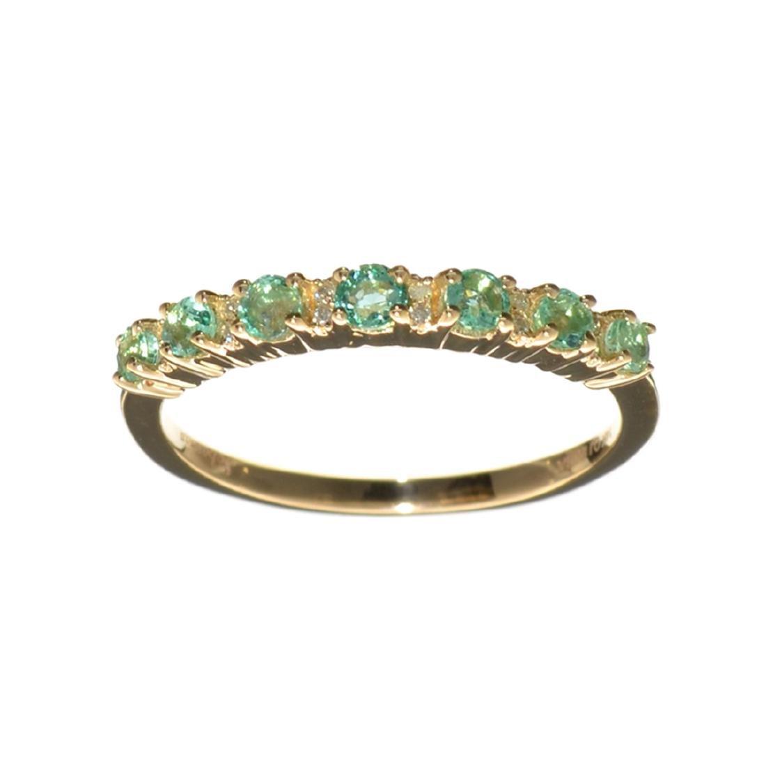 Designer Sebastian 14KT Gold 0.59CT Emerald and 0.04CT