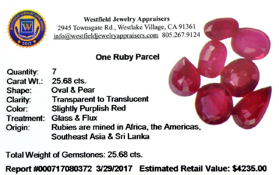 APP: 4.2k 25.68CT Oval / Pear Cut Ruby Parcel - 2
