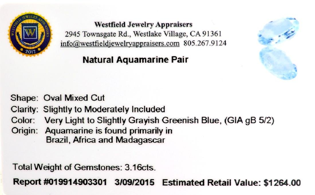 APP: 1.3k 3.16CT Oval Mixed Cut Natural Aquamarine - 2