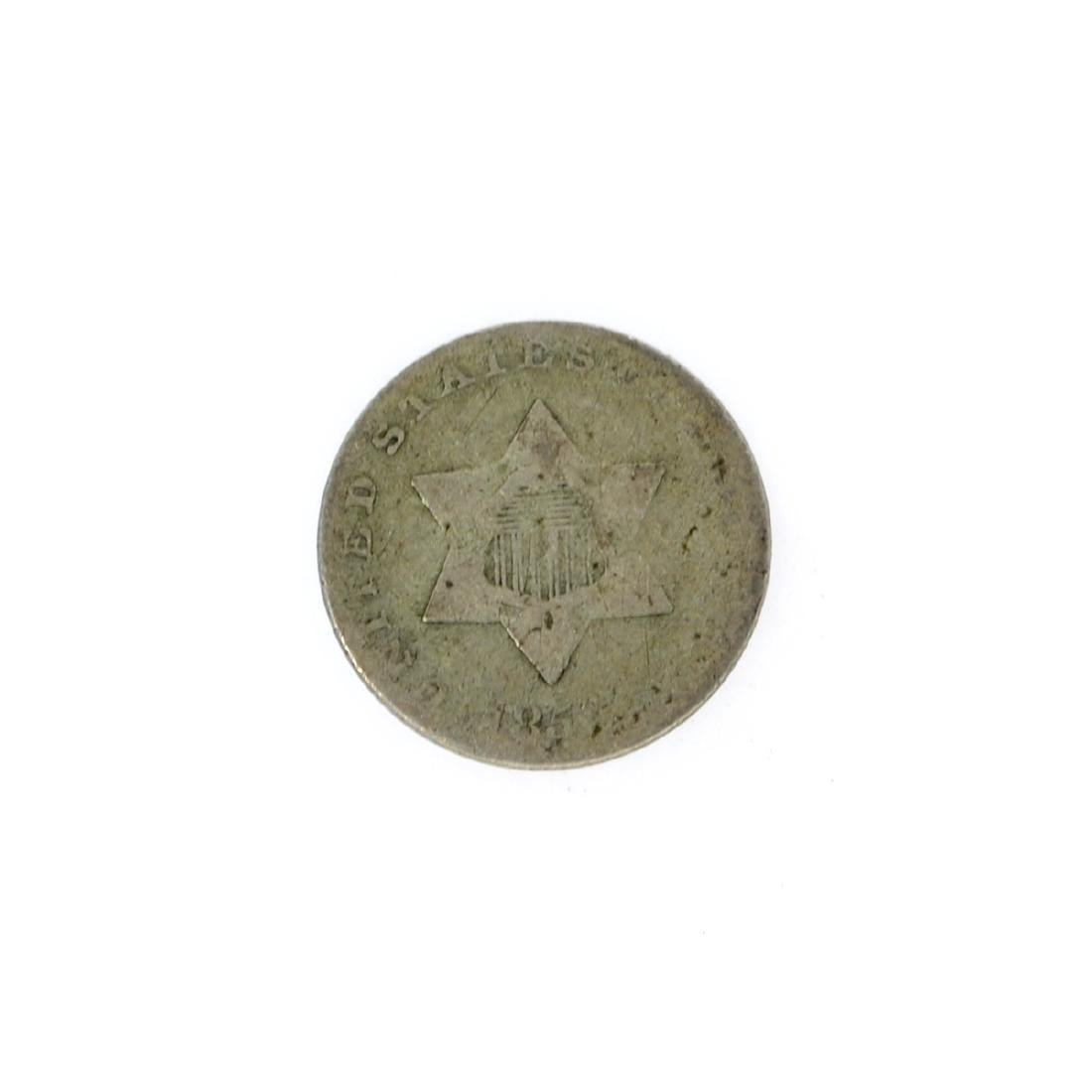 185X Silver Three-Cent Coin