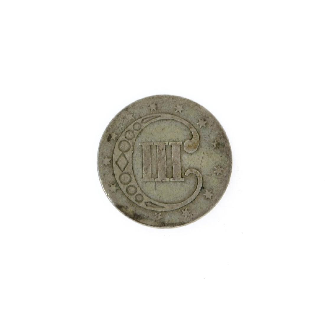 185X Silver Three-Cent Coin - 2
