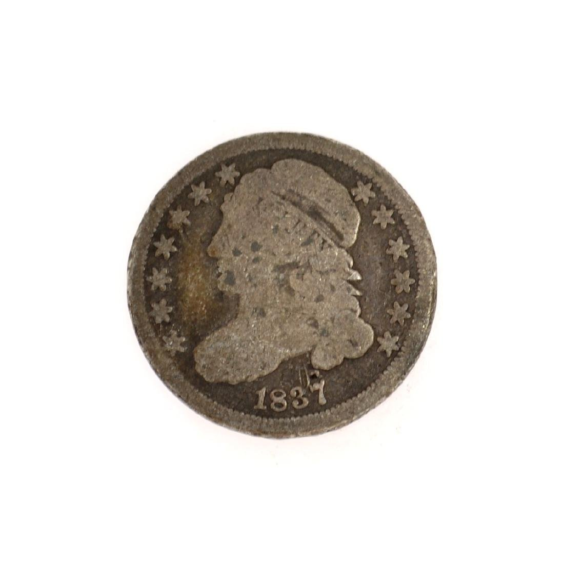 Rare 1837 Capped Bust Dime Coin