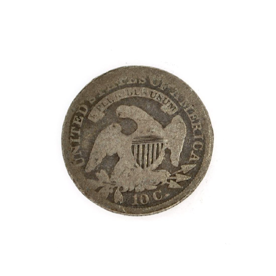 Rare 1837 Capped Bust Dime Coin - 2