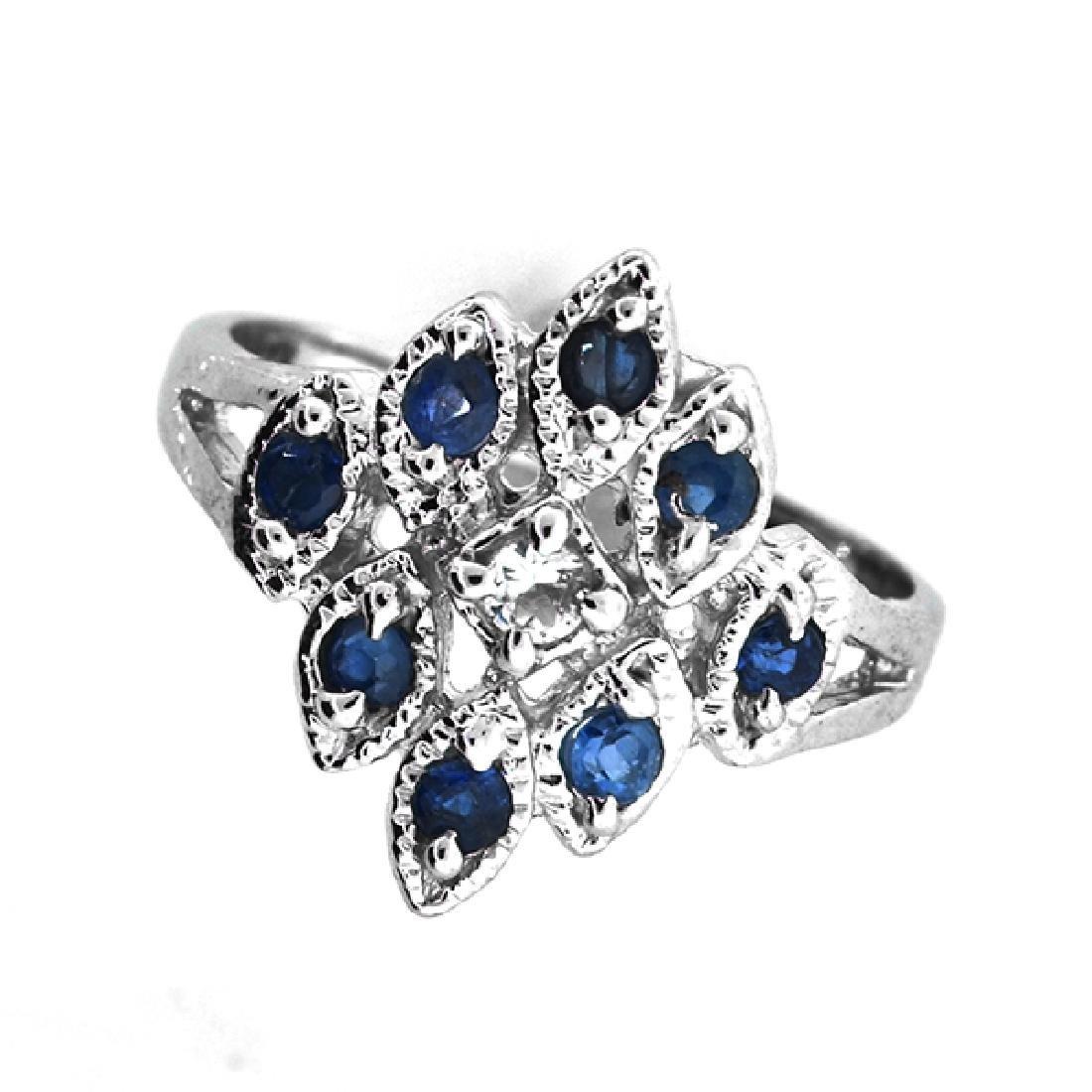 Fine Jewelry Designer Sebastian 0.40CT Blue Sapphire