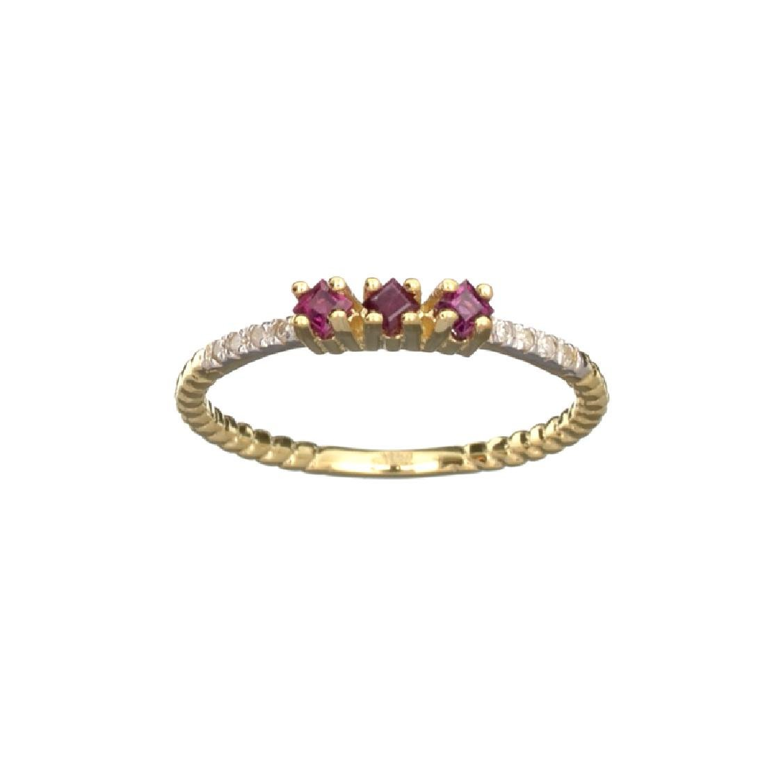 APP: 0.6k Fine Jewelry 14 KT Gold, 0.24CT Ruby And