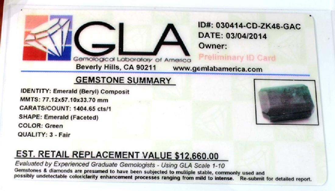 APP: 12.7k 1404.65CT Emerald Cut Emerald Beryl Gemstone - 3