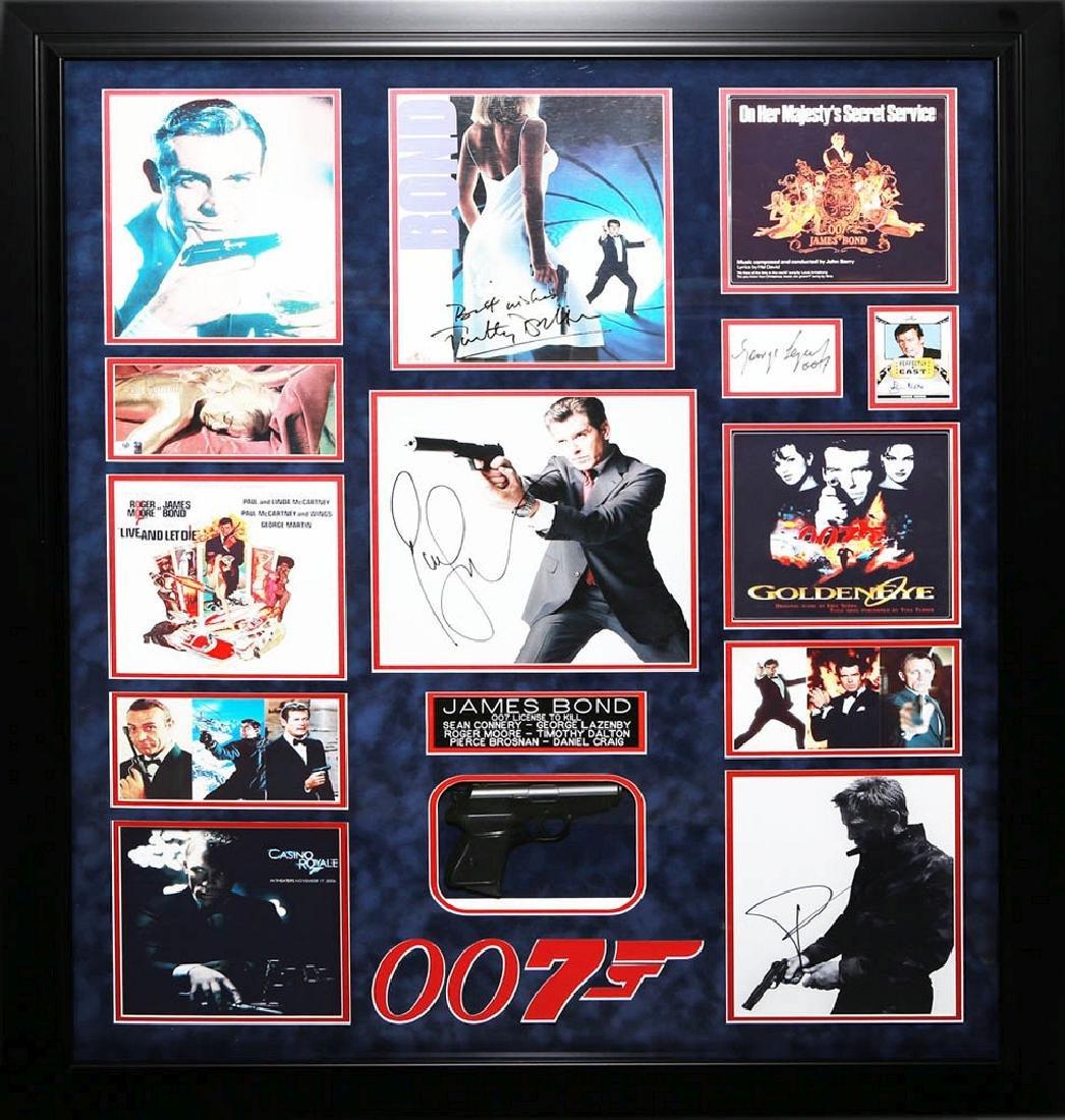 James Bond Collage with Gun