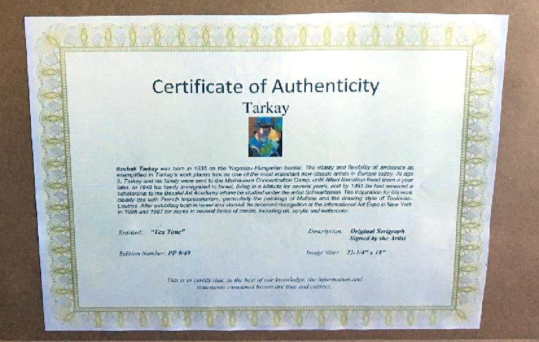 Tarkay- Framed Lithograph-Signature ''''Tea Time'''' - 2