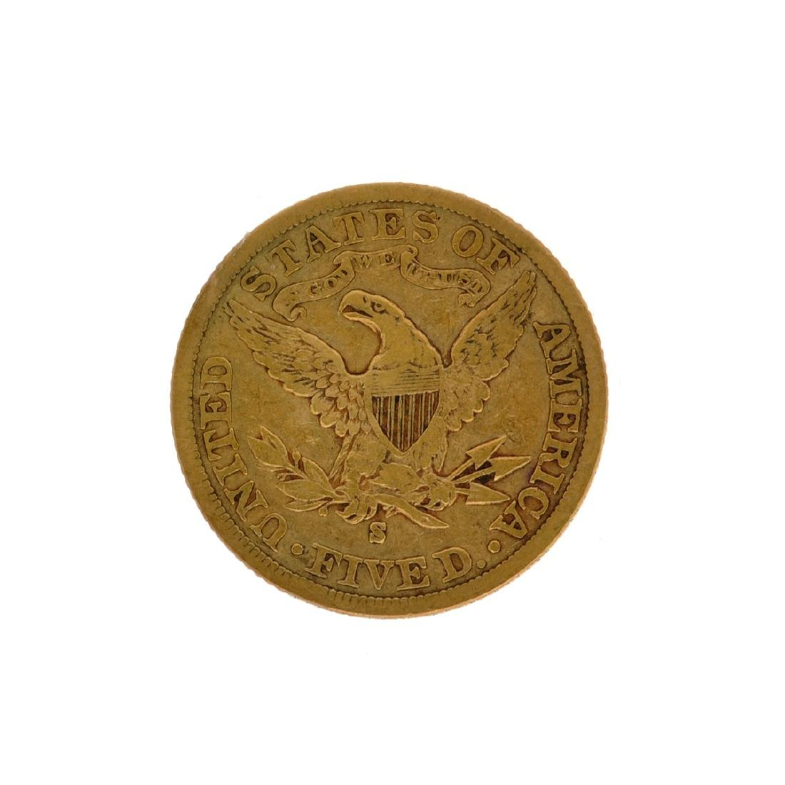 *1903-S $5 Liberty Head Gold Coin (DF) - 2