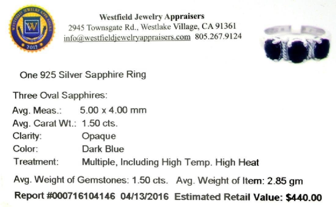 APP: 0.4k Fine Jewelry 1.50CT Oval Cut Blue Sapphire - 2
