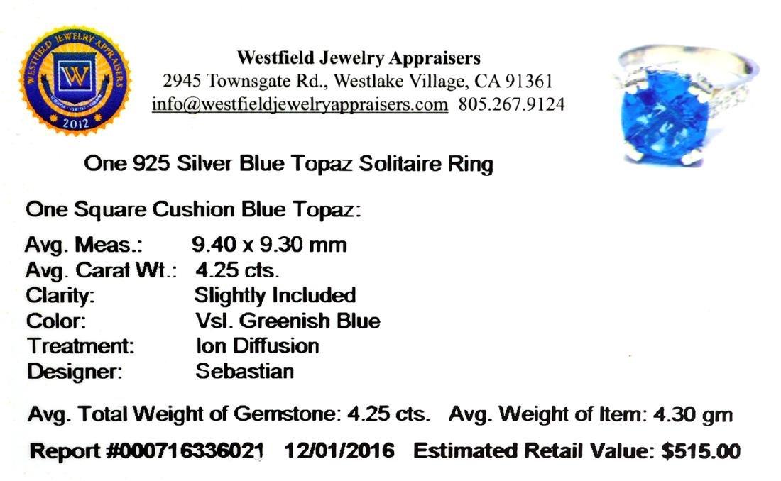 Fine Jewelry Designer Sebastian 4.25CT Square Cushion - 2