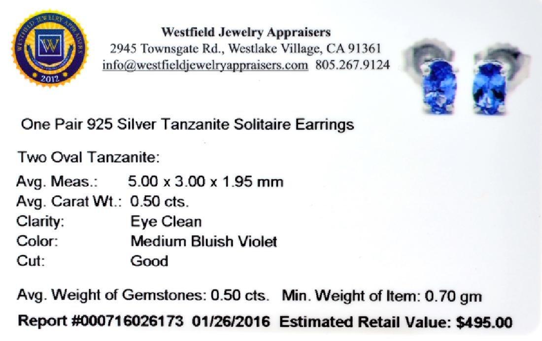 APP: 0.5k Fine Jewelry 0.50CT Oval Cut Tanzanite Over - 2
