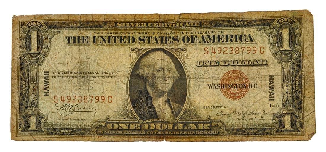Rare 1935-S $1 U.S. Hawaii Note