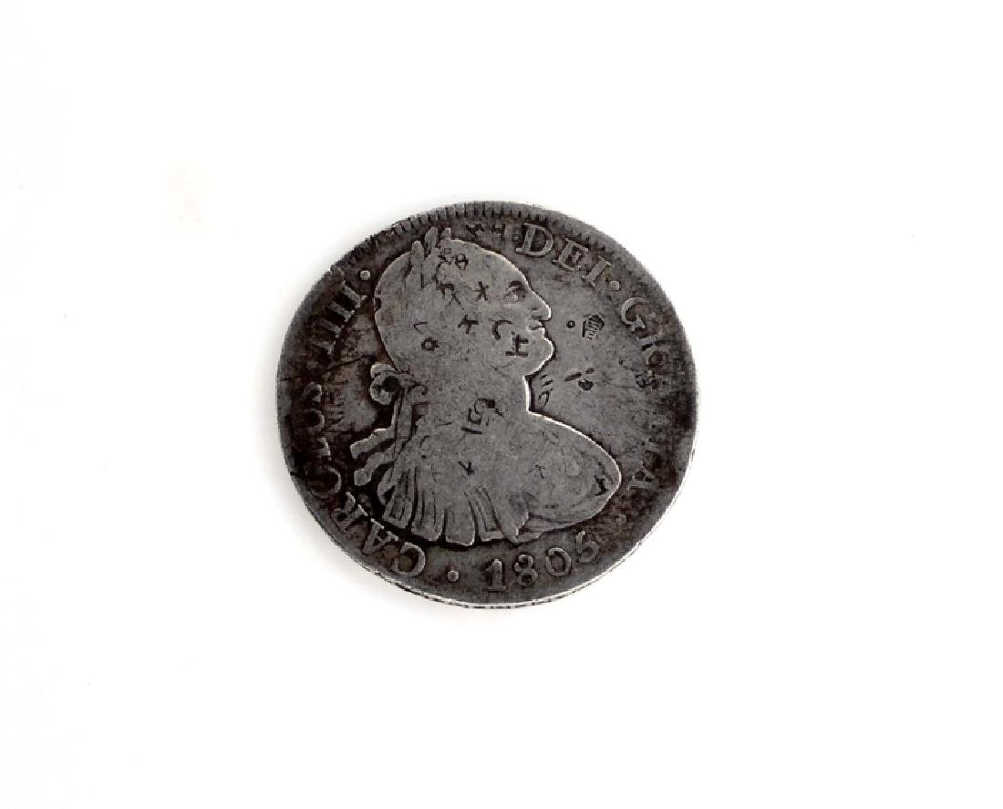 1805 Eight Reales First Silver Dollar Coin