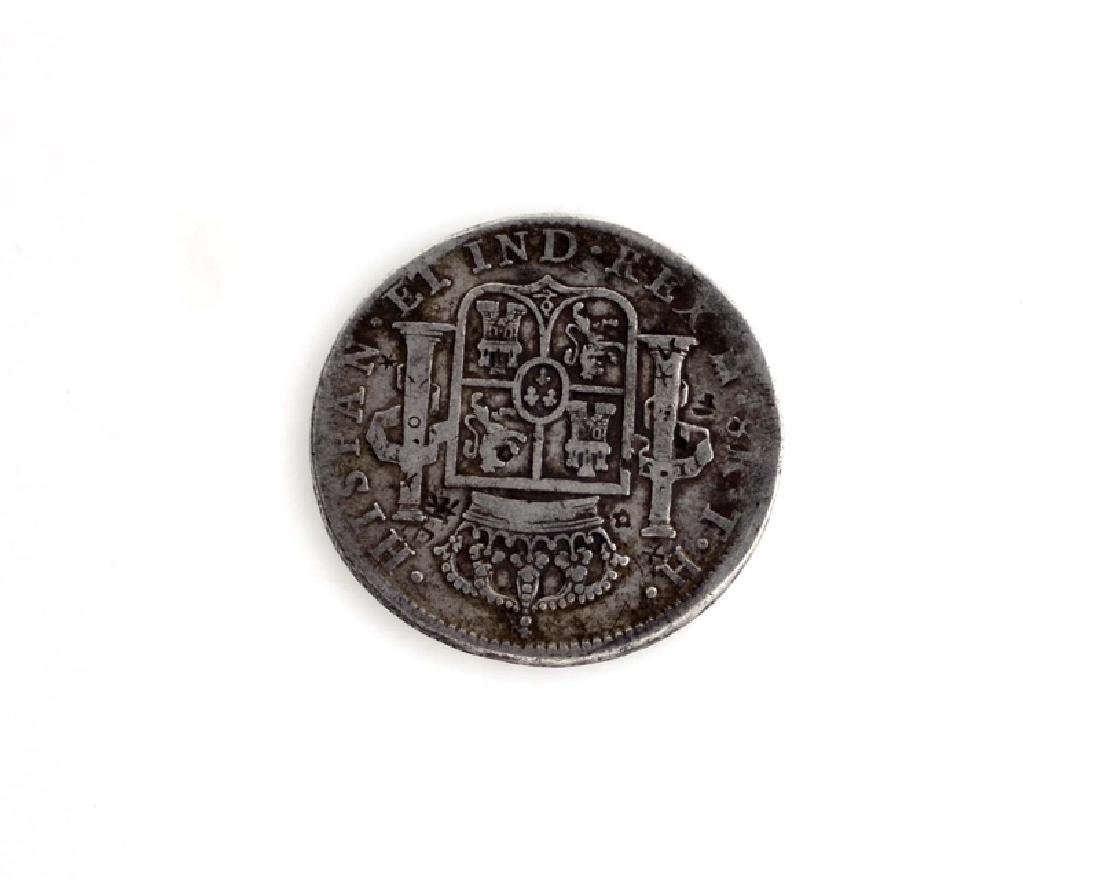 1805 Eight Reales First Silver Dollar Coin - 2