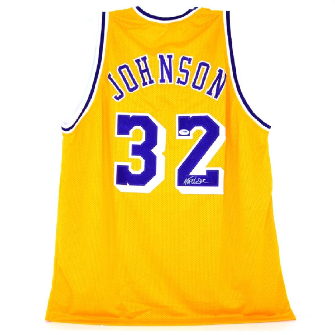 Very Rare Magic Johnson Signed Lakers Jersey - 2