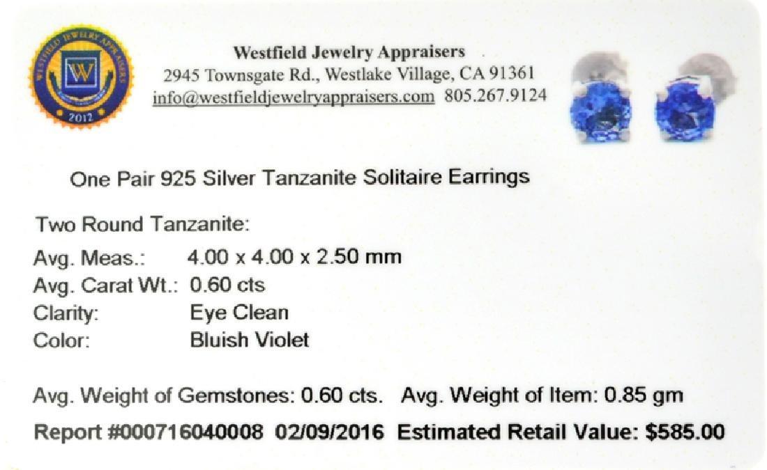 APP: 0.6k Fine Jewelry 0.60CT Tanzanite And Sterling - 2