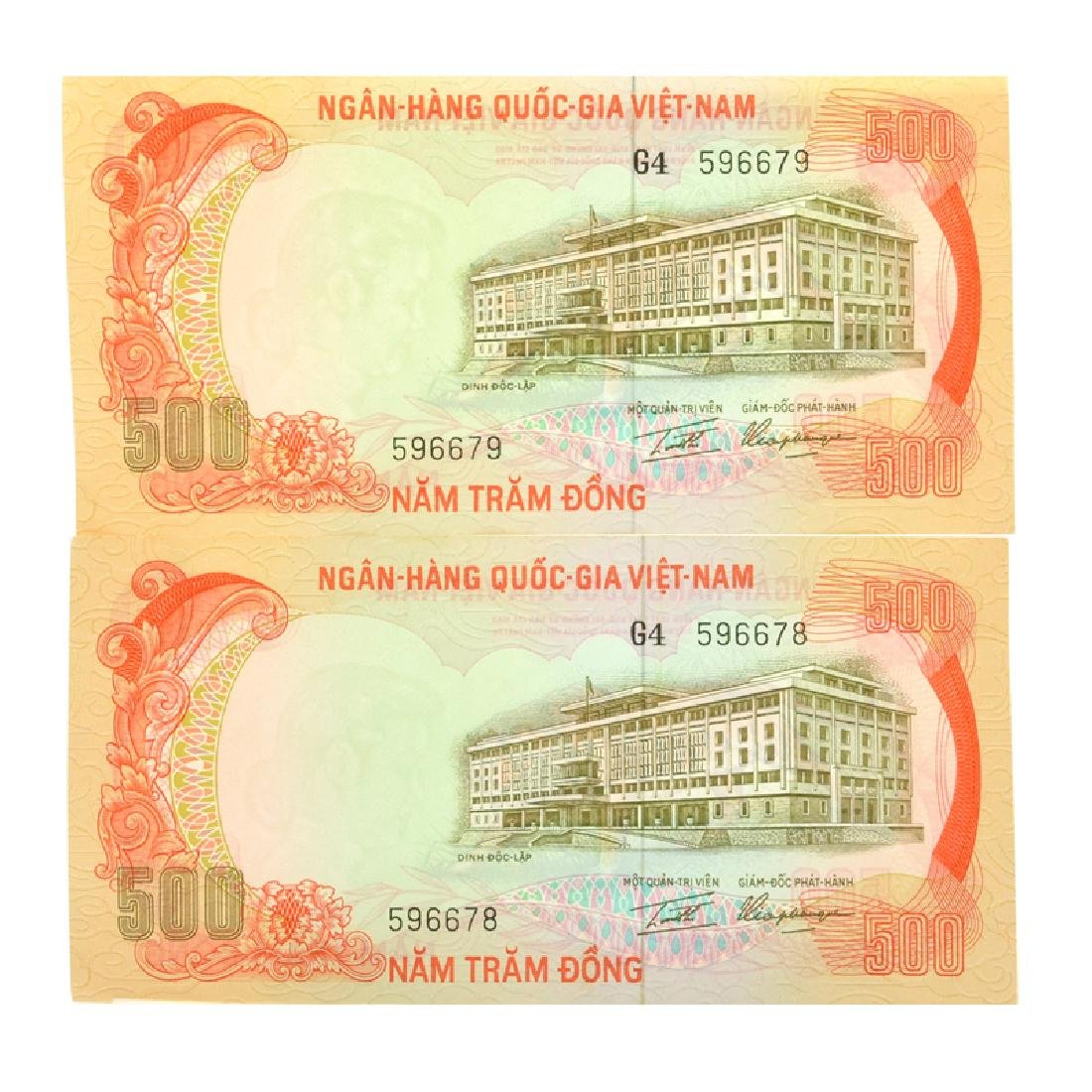 Vietnam South P33a 500 Dong Banknotes (2) - 2