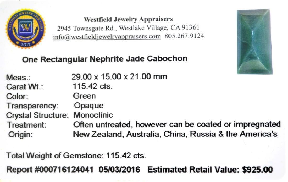 APP: 0.9k 115.42CT Rectangular Cut Cabochon Nephrite - 2