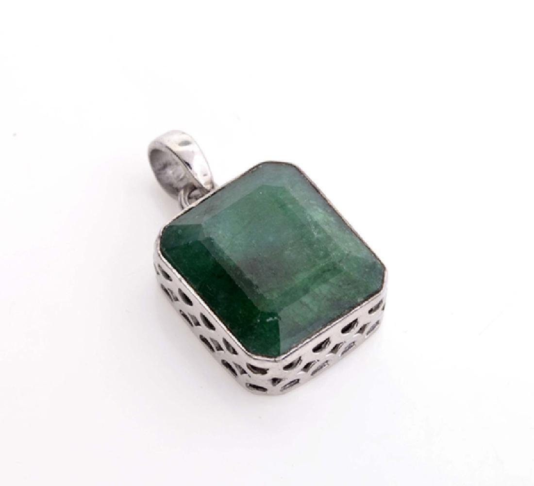 Designer Sebastian 30.98CT Rectangular Cut Green Beryl