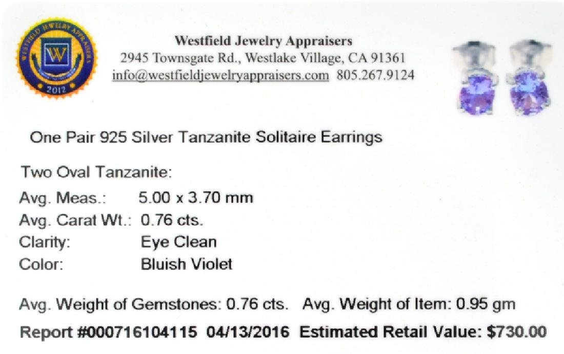 APP: 0.7k Fine Jewelry 0.76CT Oval Cut Tanzanite And - 2