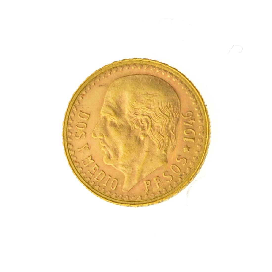 *1946 $2.50 Mexico Pesos  Gold Coin (JG)