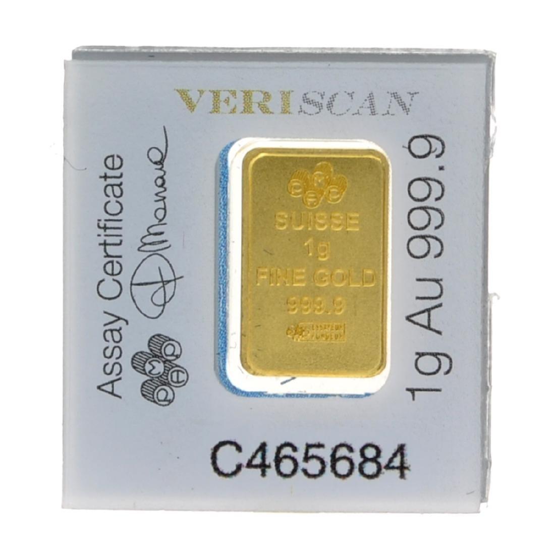 1 Gram .9999 PAMP Suisse - Snap Bar - Gold Bar - 2