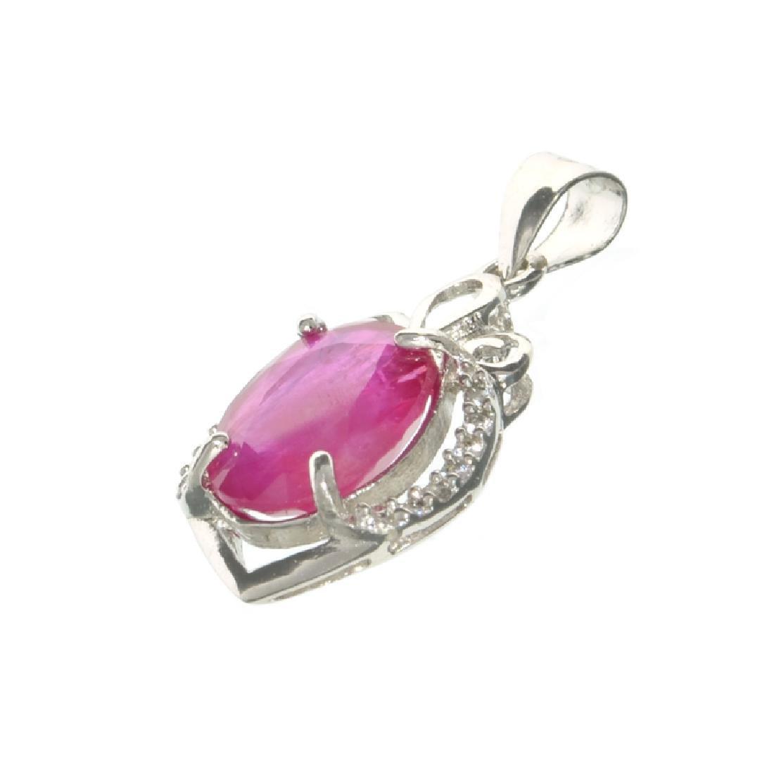 APP: 1.1k Fine Jewelry 3.00CT Oval Cut Ruby /White