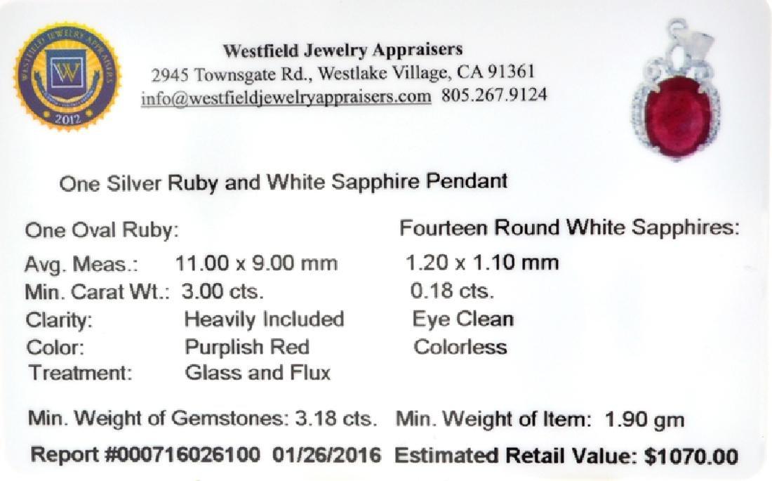 APP: 1.1k Fine Jewelry 3.00CT Oval Cut Ruby /White - 2