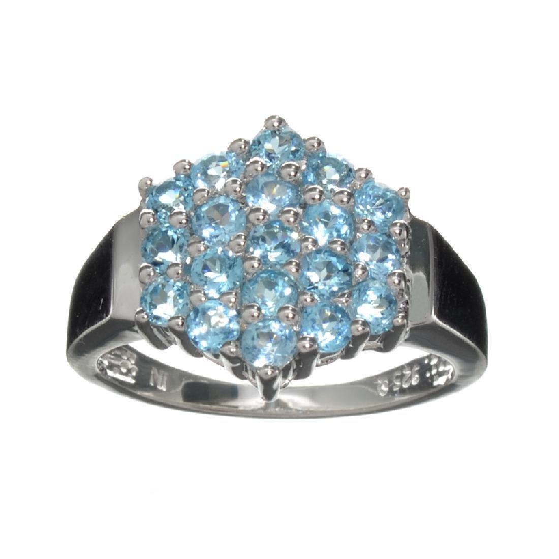 APP: 1k Fine Jewelry 1.50CT Round Cut Light Blue Topaz