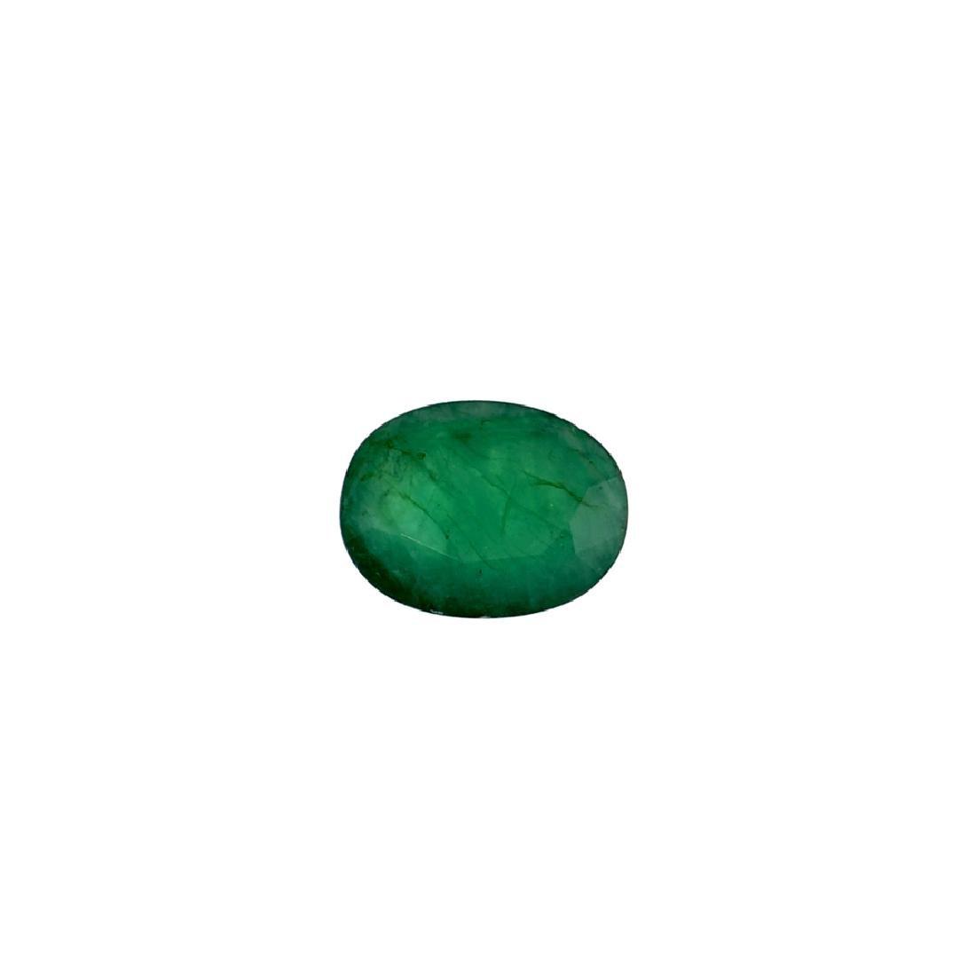 APP: 3.9k 3.88CT Oval Cut Green Emerald Gemstone