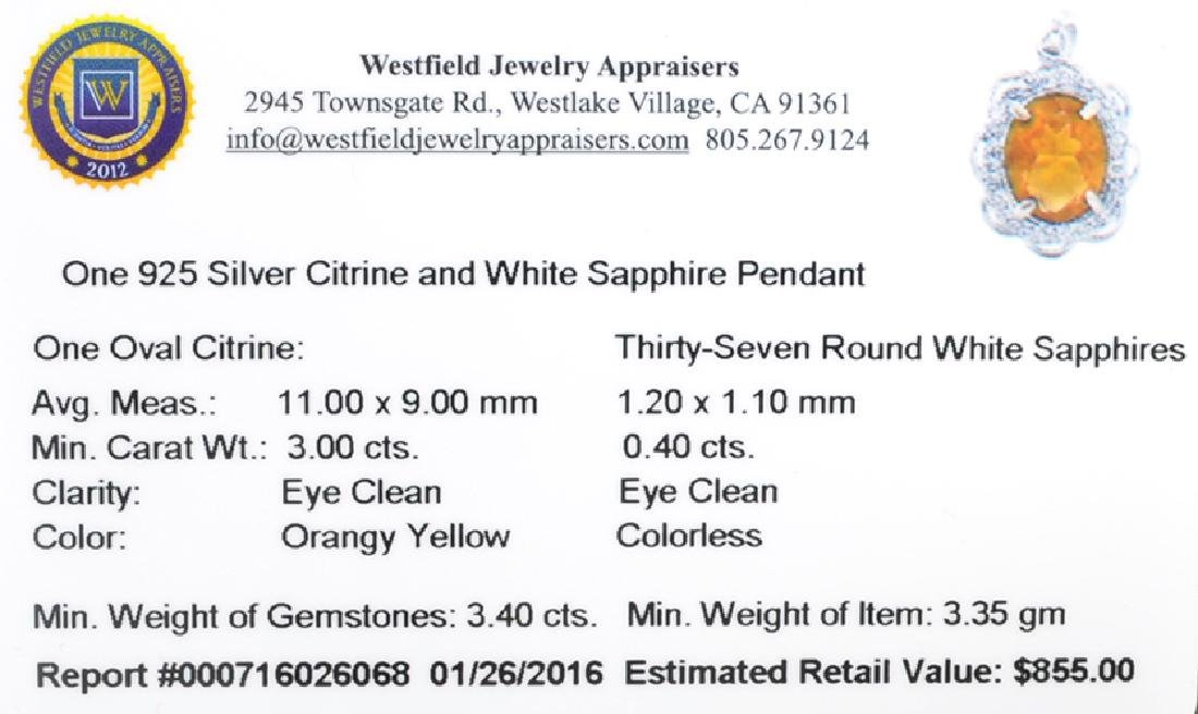 APP: 0.9k Fine Jewelry 3.00CT Oval Cut Citrine And - 2