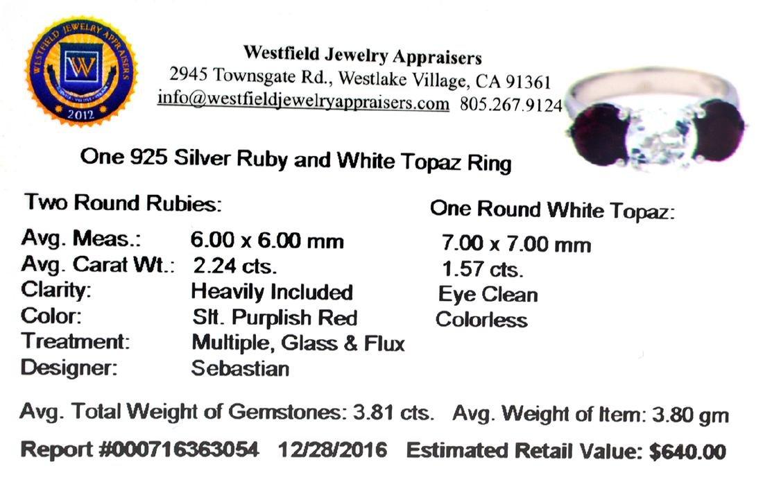 APP: 0.6k Fine Jewelry Designer Sebastian, 3.81CT Ruby - 2