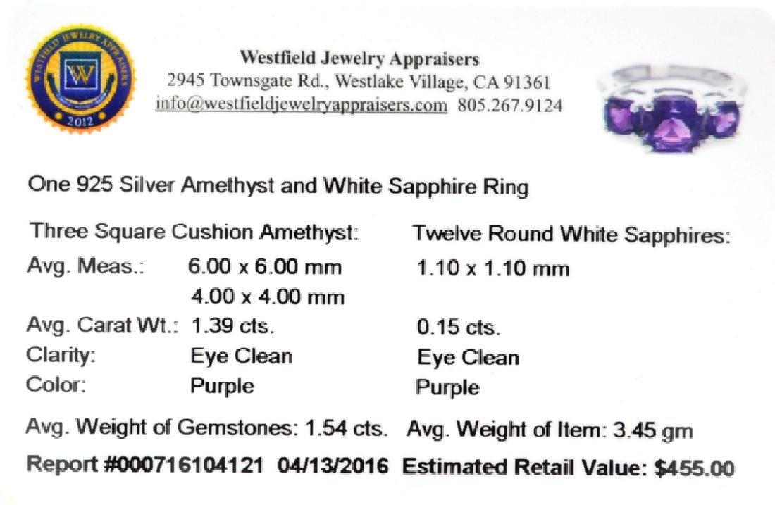 APP: 0.5k Fine Jewelry 1.54CT Purple Amethyst And White - 2