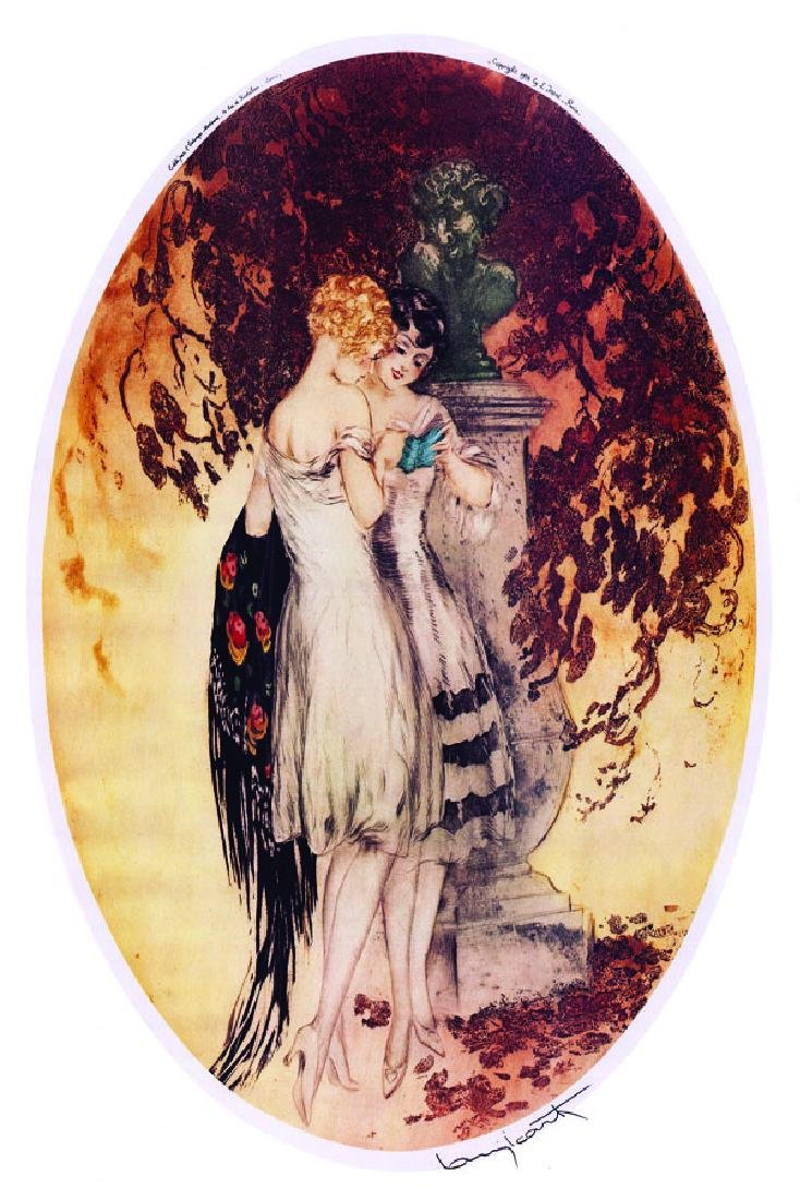 Icart ''''Deux Filles'''' 12 x 17 Paper Image