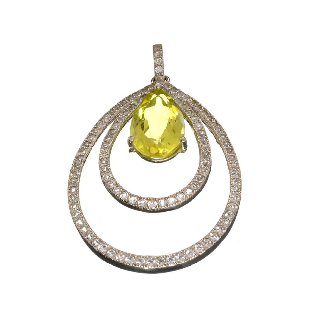 Fine Jewelry 5.70CT Citrine Quartz And Colorless Topaz