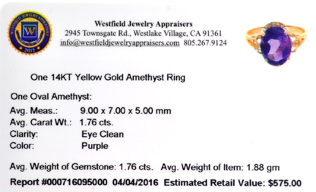 APP: 0.6k Fine Jewelry 14 KT Gold, 1.76CT Oval Cut - 2