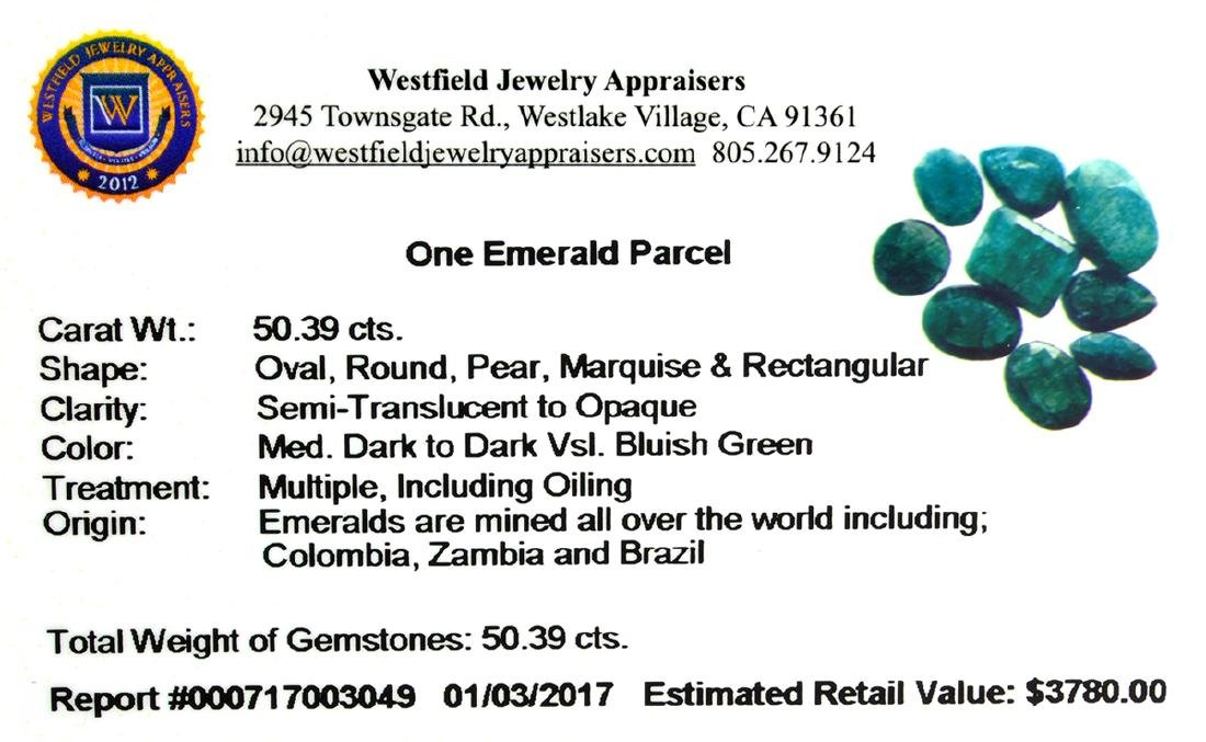 APP: 3.8k 50.39CT Green Emerald Parcel - 2