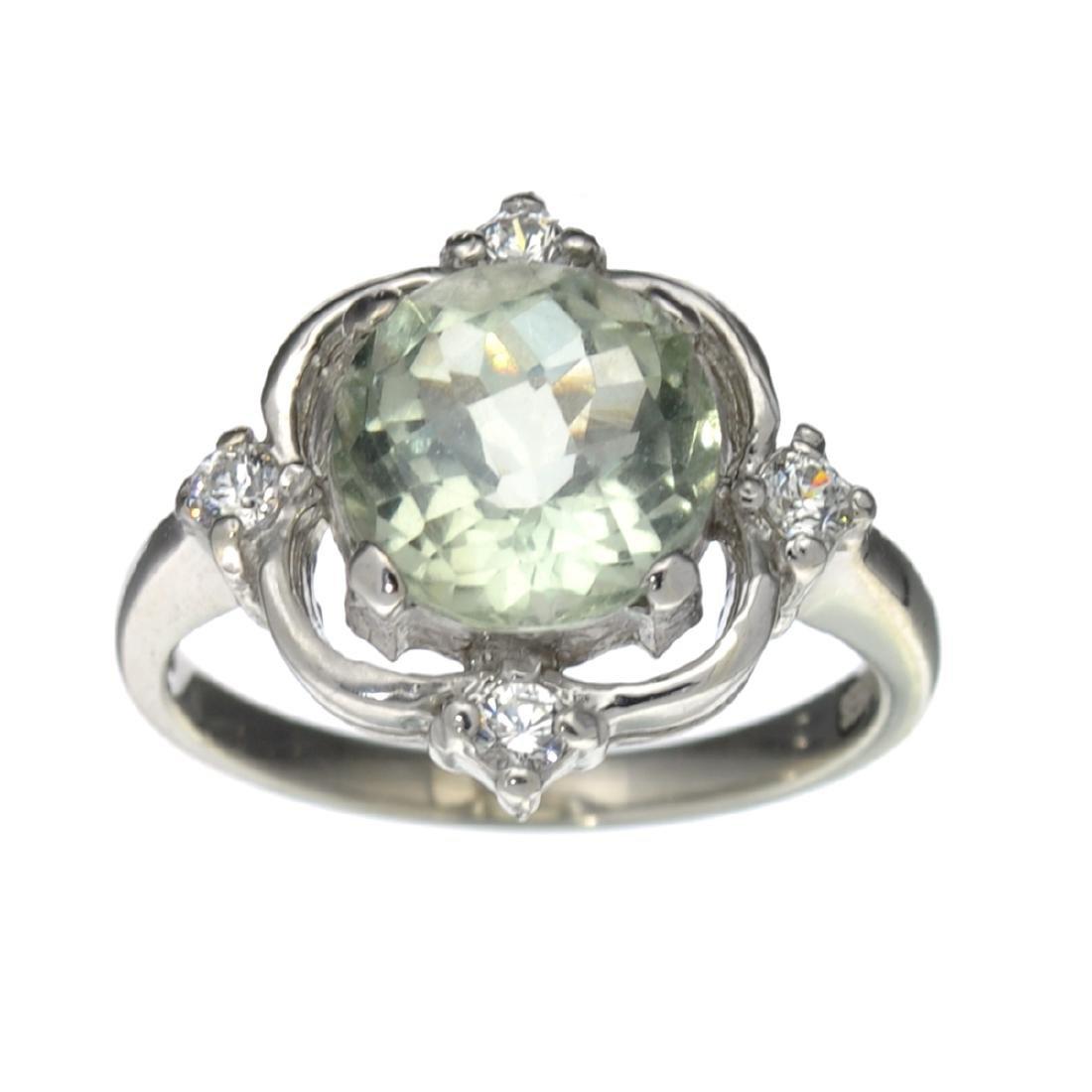 Fine Jewelry Designer Sebastian 2.45CT Round Cut Green